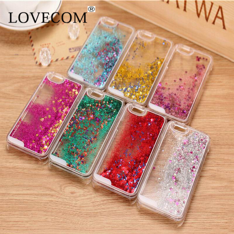 LOVECOM Glitter Stars Dynamic Liquid Quicksand Hard Case Cover iPhone 4 4S Transparent Clear Phone YC368 - Official Flagship Store store