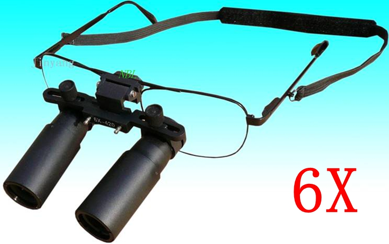 6X420MM Dental Binocular Magnifiner Loupes Glasses 6x Magnifying Lens For Surgical And Dental Operations With Box Wholesales(China (Mainland))