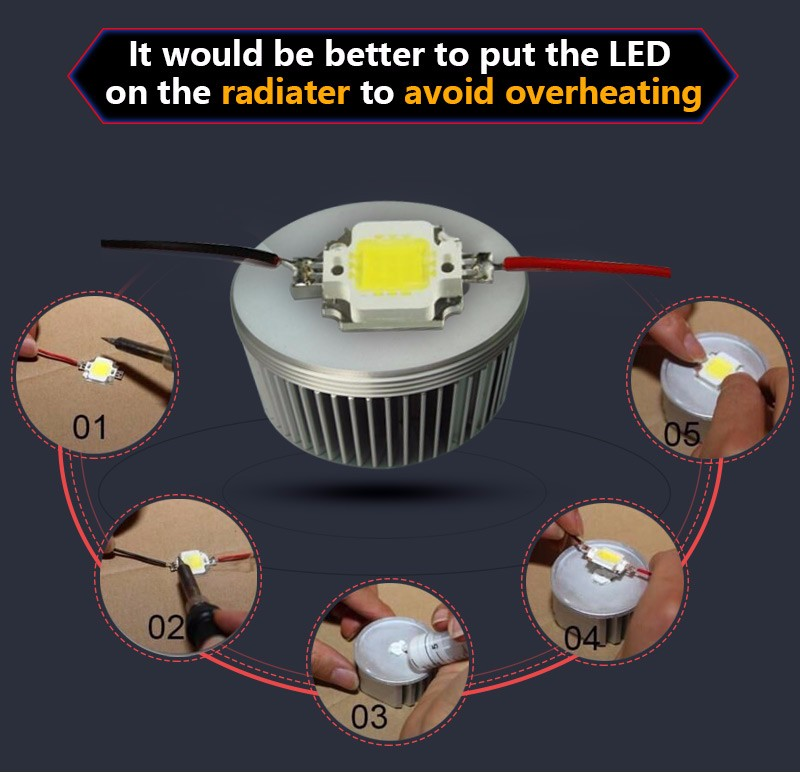 High Power COB LED Chip 10W 20W 30W 50W 100W DC 10V-32V Integrated SMD For Floodlight Spotlight Warm White /White