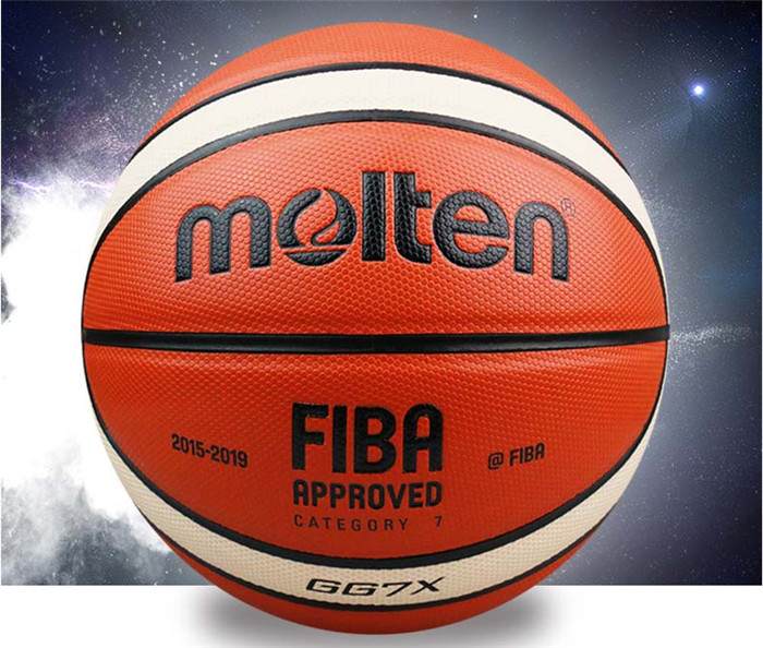 NEW Brand High Quality Molten GG7X Basketball Ball leather Official Size7 Basketball Free With Net Bag+ Needle+Pump(China (Mainland))