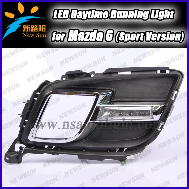 New arrival Fog Position DRL LED Daytime running Lights Simultaneous Turn for Mazda 6 Sport car running  daylight super bright<br><br>Aliexpress