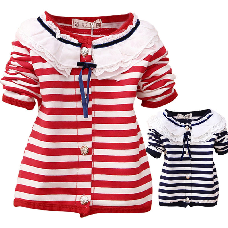 Clothing for Baby Girl Knitted Sweater Spring Autumn Baby Clothing Wear Sweaters Baby Girls Lace Cardigan Jackets Coats(China (Mainland))
