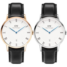 2015 Brand Daniel Wellington Watches Fashion Men's leather calendar waterproof DW Watches women Dress quartz watches for lovers