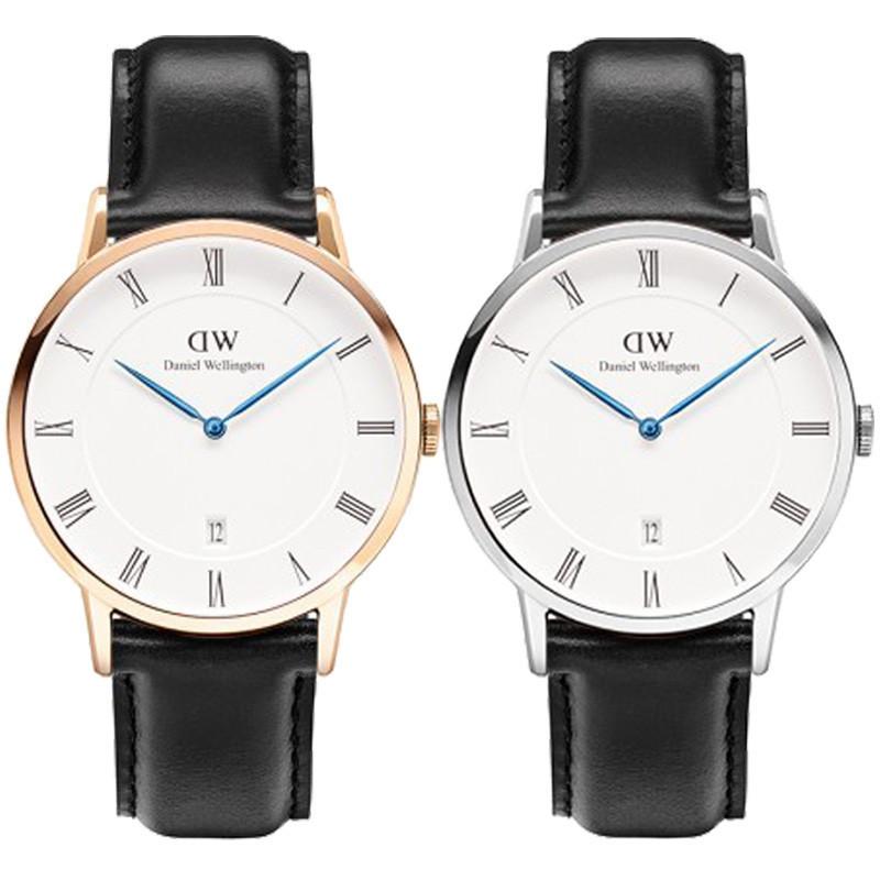 2015 Brand Daniel Wellington Watches Fashion Men's leather calendar waterproof DW Watches women Dress quartz watches for lovers(China (Mainland))