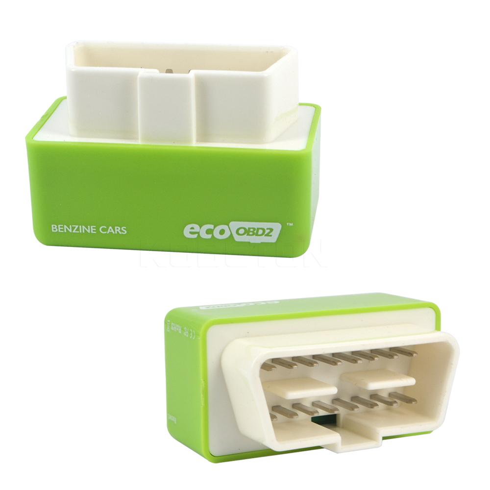 Green EcoOBD2 Car Economy Chip Tuning Box Eco OBD2 Plug & Drive 15% Fuel Save For Benzine Petrol Cars Lower Fuel Lower Emission(China (Mainland))