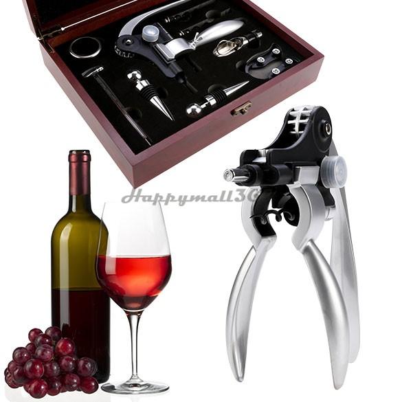 Pourer Red Wine Stopper Foil Cutter Wine Ring Upscale Opener Gift Sets Rabbit Opener Corkscrew Collar Pourer Set 22(China (Mainland))