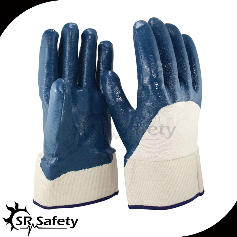 Free Shipping !!! SRSAFETY 6PAIRS 3/4 Coated Nitrile heavy-Duty Gloves,safety cuff,knit wrist<br><br>Aliexpress