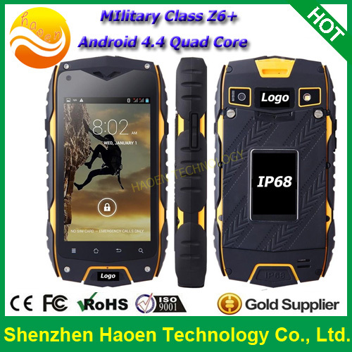 China 3G Cellular Android Mobile Telephone IP68 Waterproof Dustproof Rugged Verizon Mobile Telephone With Dual Sim 5MP Camera(China (Mainland))