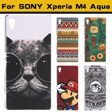 Чехол бампер для Sony Xperia M4 Aqua с рисунком на выбор