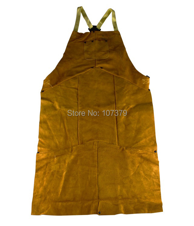 Leather Welding Aprons 107cm staphyloccus cowhide fire flame retardant clothing welder aprons(China (Mainland))