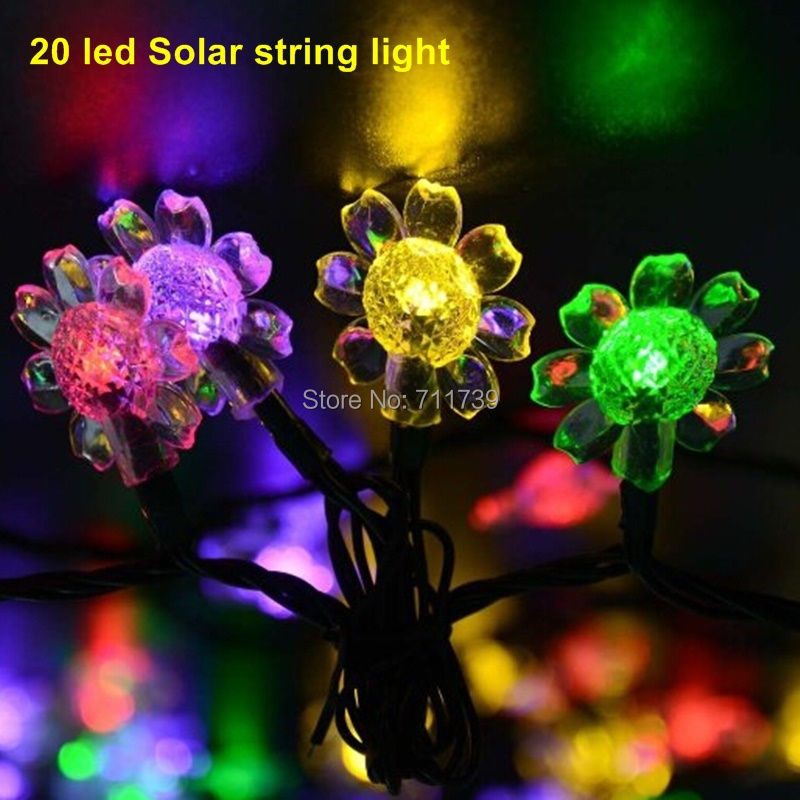 buy 1set 50 led flower solar powered. Black Bedroom Furniture Sets. Home Design Ideas