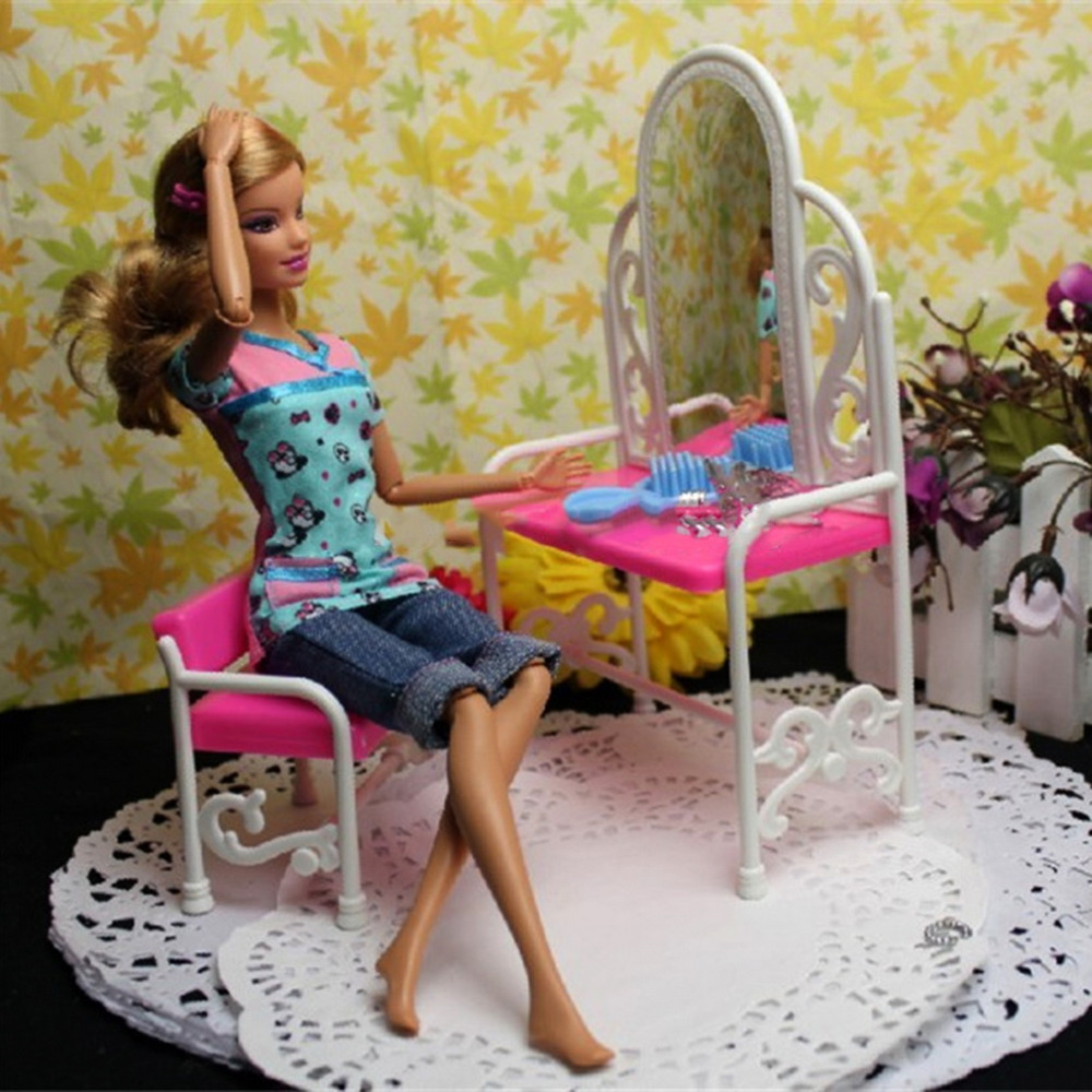 Fantasy Dressing Table & Chair Accessories Set For Dolls Bedroom Furniture Top Quality Hot Selling(China (Mainland))