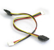 4 контакт. FDD дисковод гибких дисков женский до 15 контакт. SATA женский адаптер конвертер питания щупы кабель шнур 18AWG провода для ITX шт