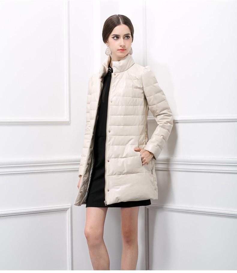 DHL EMS genuine sheepskin leather jacket women long thick coat winter natural big A8 - K fashion show co.,Ltd store
