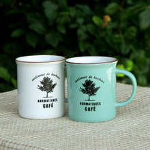 zakka Japanese grocery household items IKEA imitation enamel ceramic cup couple cups of coffee tree