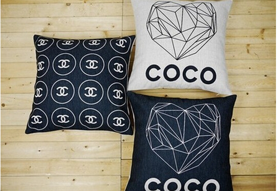 classical black white style droplight pillow case decorative luxury pillow covers brand logo cushion cover sofa car decor 45x45(China (Mainland))