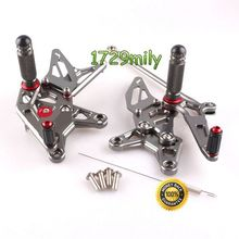 Adjustable Rearsets For Kawasaki ZX 6R 09 10 11 12 zx6r Foot peg rest Motorcycle parts
