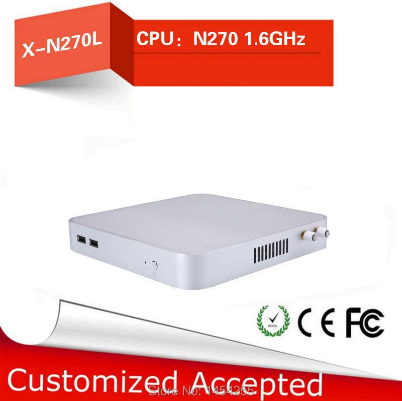Intelembedded Board, Windows CE Fanless Office Pc Mini Htpc X26-N270L N270 1.6GHZ With 1* 12V DC Barebone Os(China (Mainland))