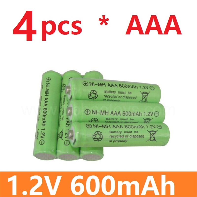 4 psc High quality and high energy remote control toy rechargeable Ni MH rechargeable battery AAA 1.2V 600mAH Free Shipping(China (Mainland))