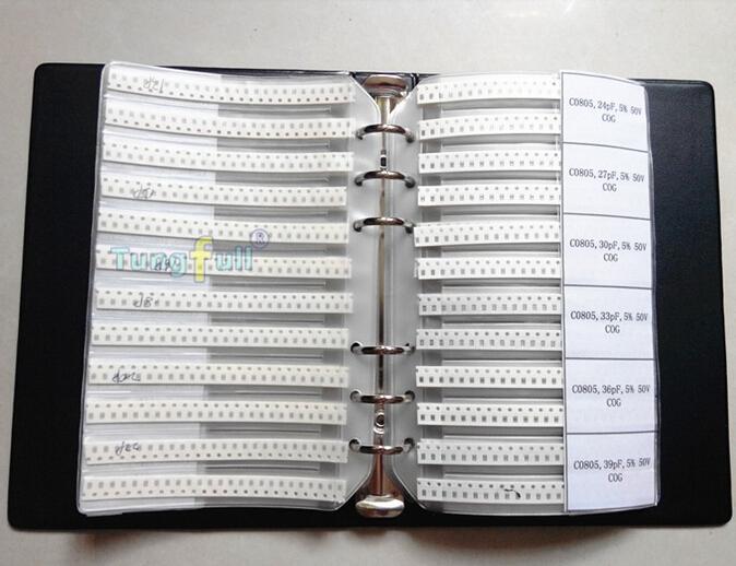 C0805 0805 SMD capacitor sample book , 92 values X 50pcs, chip assortment kit - Tungfull Digital Technology Co.,Ltd store