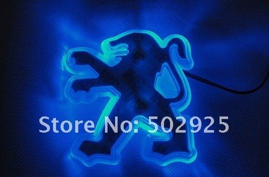 Free Shipping   new Fashion Shiny LED  Car Emblem Badges for peugeot 207 307 407 308 408 206 508 wholesale & retail