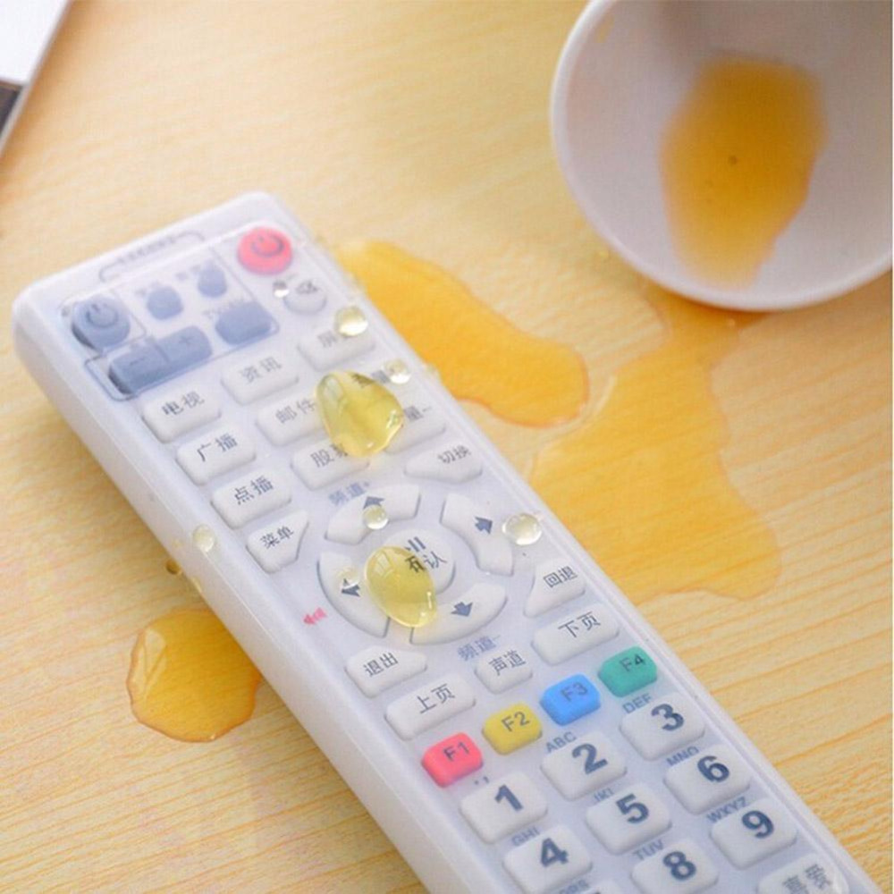Silicone Dust Storage Boxes Transparent TV Remote Control Cover Protective Organizer Home Wholesale Bulk Accessories Supplies(China (Mainland))