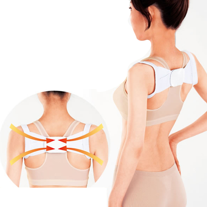 Hot Sale New 1 Pair Adjustable Therapy Back Lumbar Support Brace Belt Body Posture Shoulder Corrector Correction Cheap Z1(China (Mainland))
