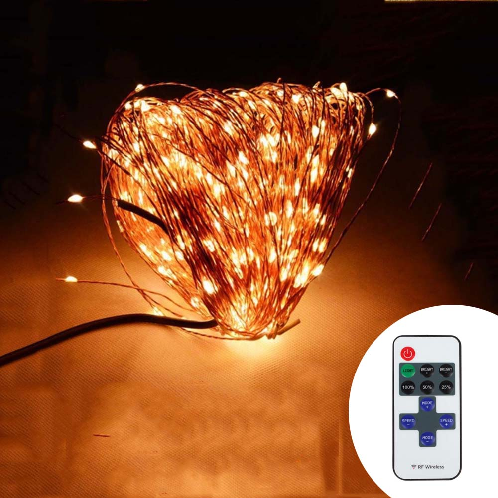 Indoor Outdoor Wireless Control 164Ft 50M 500 LED String Lights + Power Adapter-in LED String ...