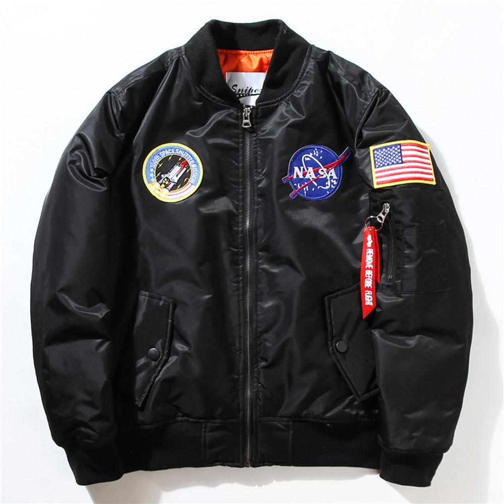 Kanye West Hip Hop Sport Male Windbreaker Jacket Baseball flag flight women NASA MA1 bomber jacket padded Air Force jacket coat(China (Mainland))