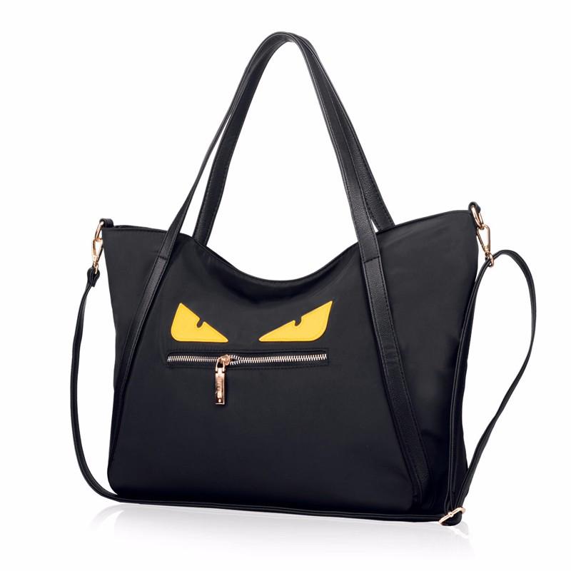 Little Monster Hand Bag Women Korean Style Fashion Nylon Handbag Lady Large Lovely Cartoon Shoulder Bag Designer Casual Tote Bag