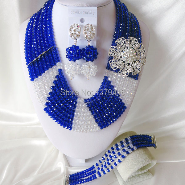 The beautiful blue Africa Wedding Pearl jewelry, crystal jewelry set  T-1464<br><br>Aliexpress