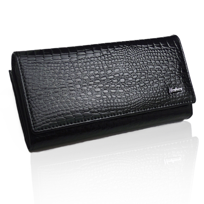 2016 Free Shipping Brand name genuine patent Leather Wallet for women + Gent patent Leather purses+ brand orginal gift box(China (Mainland))