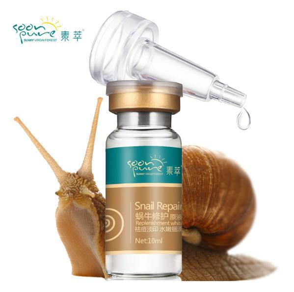 Korean gold Snail extract white Serum Cream face scars skin care Rejuvenation beauty Hyaluronic acid ampoules anti acne makeup(China (Mainland))