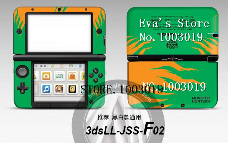 Green front&back Decal Sticker Skin for Nintendo Old 3DSXL Sticker for 3DS XL LL for 3DSLL(China (Mainland))