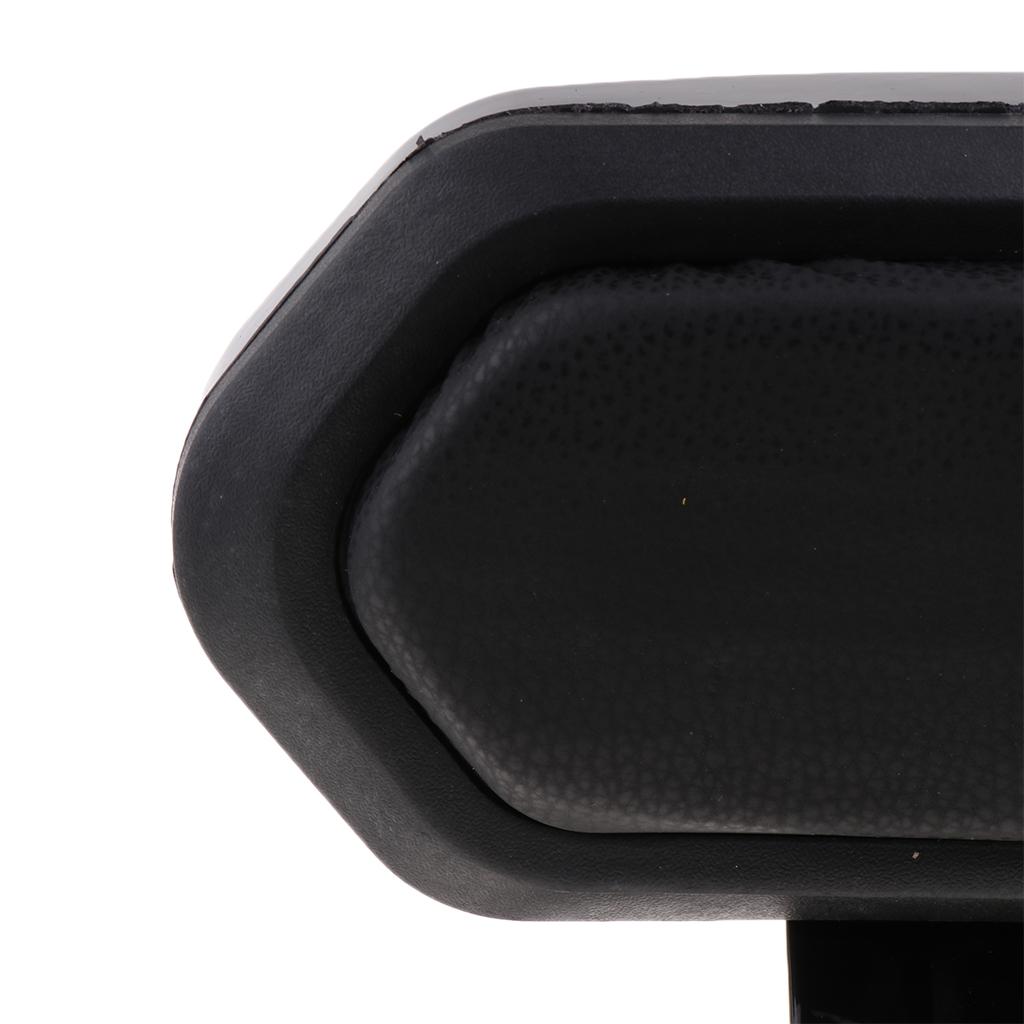 1 Pcs Motorcycle Luggage Rack Bar Rear Passenger Backrest Cushion Pad Black For Universal Motorcycle 9.45x4.53 Inch