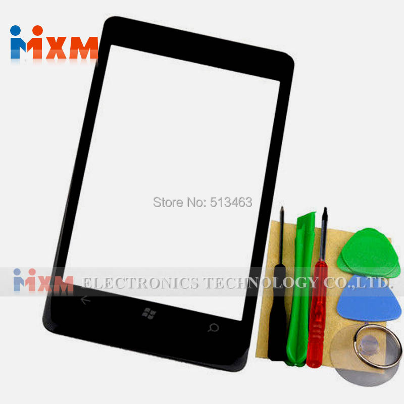 Front Screen Outer Glass Lens Replacement Repair Part For Nokia Lumia 800 Black+Tools