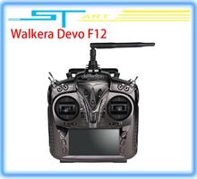 2014 New Walkera F12 12ch Transmitter with Aluminum Case for FPV RC Quadcopter Drone X350 pro X800 VS Devo F7 12S 1 classic toy