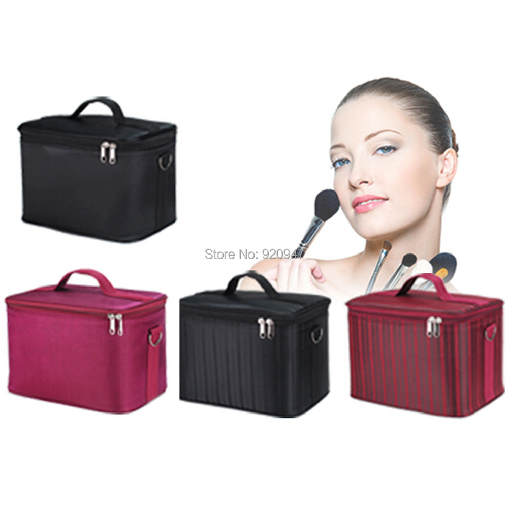 Makeup Cosmetic Jewelry Nail Art Wedding Salon Tools Train Case Box Bag 4 Color<br><br>Aliexpress