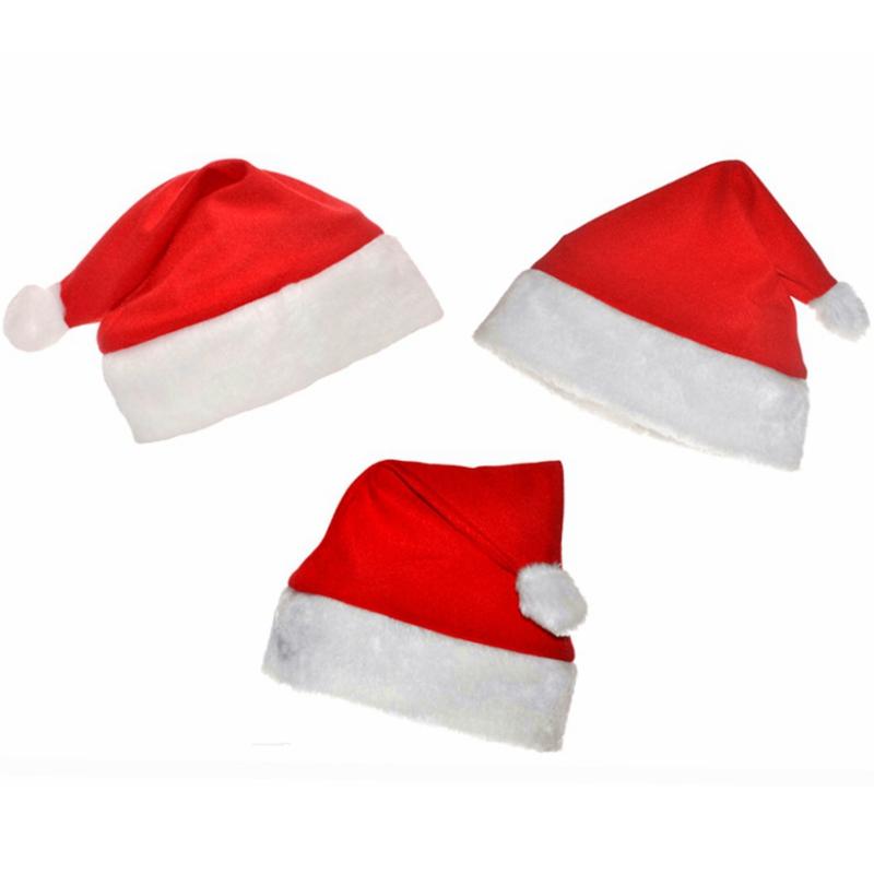 10pcs/set Classic Christmas Hat Santa Claus Hat Child Adult Christmas Decorations Holiday Party Supplies Santa Claus Accessories(China (Mainland))