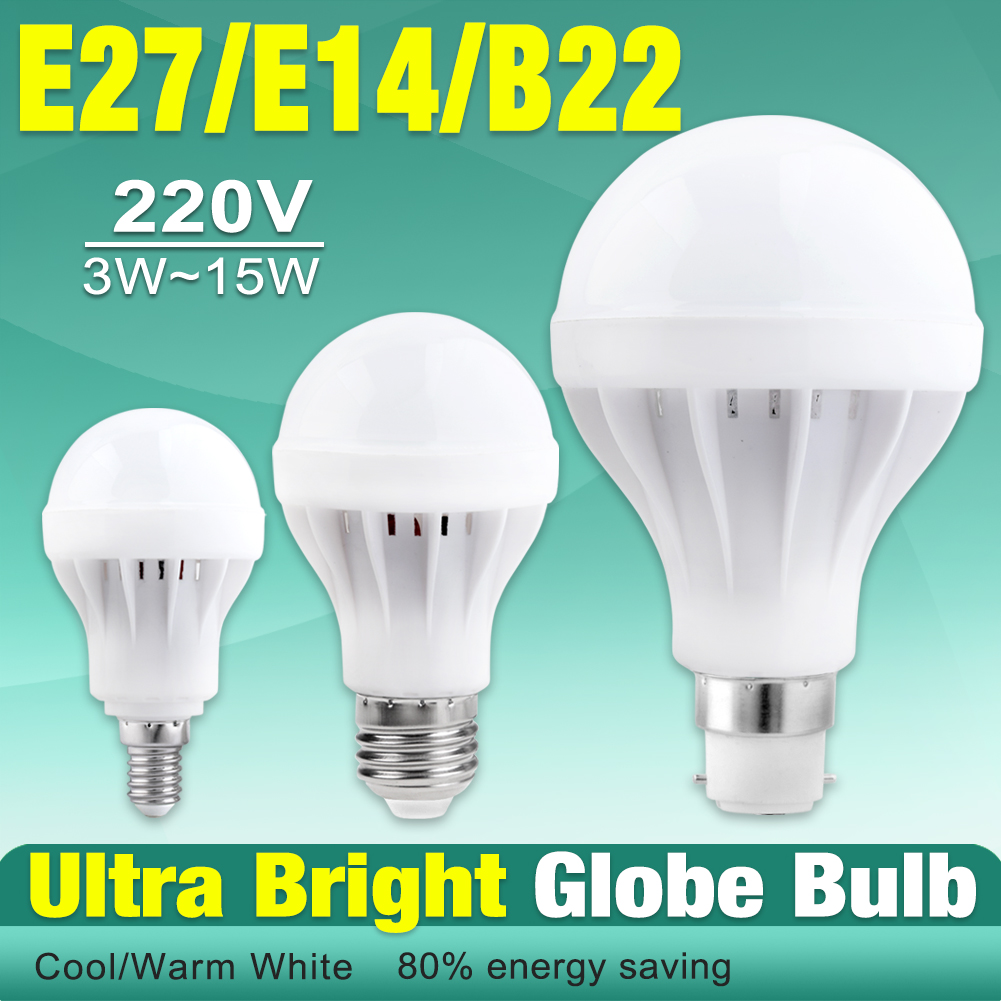 220V E27 B22 E14 Energy Saving LED Bulb Light Lamp 3/7/9/12W Cool Warm White X1 EB7300<br><br>Aliexpress