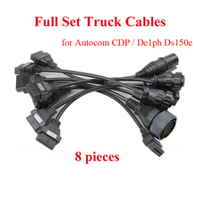 OBD2 Truck Cables For TCS Auto-com CDP Pro OBDII Truck connect cables Full set 8pcs Truck connector cables For De|ph1 DS150E(China (Mainland))