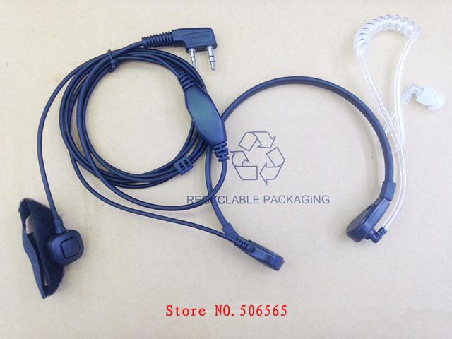 Throat control air tube mic earphone 2pins K plug for Kenwood ,Baofeng,TYT,QUANSHENG,Puxing WouXun etc walkie talkie