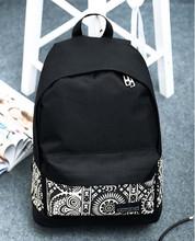 Boys Girls Backpack Unisex Canvas Rucksack Backpack Book Shoulder Bag Hot Sale New Women School Bag Printing School bag Lucky(China (Mainland))