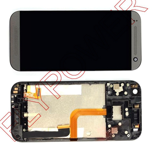 For HTC One Mini 2 M8 Mini LCD Screen Display+Touch Screen Digitizer Completed Assembly+frame free shipping;Black;100% warranty