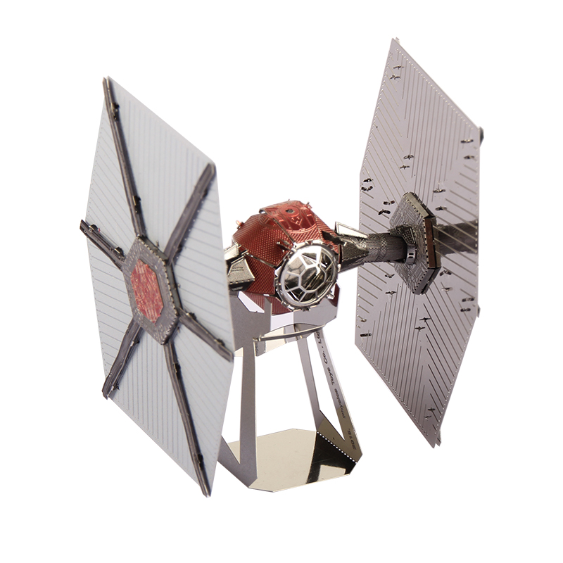 Miniature of TIE Fight in Stars Wars 3D DIY Metallic Puzzle Educational Kids Toys Saucer Man Aliens Metal Pazzle Model 1 piece(China (Mainland))