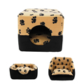 Pet Dog Multi functional House Bed Puppy Kennel Warm Doggie Sofa Cat Nest Pad Kitten Mat
