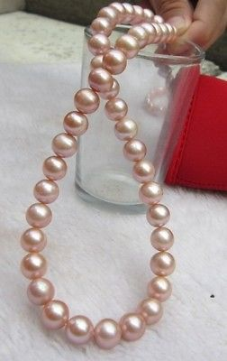 Miss charm Jew903 noblest 14k clasp 10-11mm south sea pink purple Pearl Necklace<br><br>Aliexpress