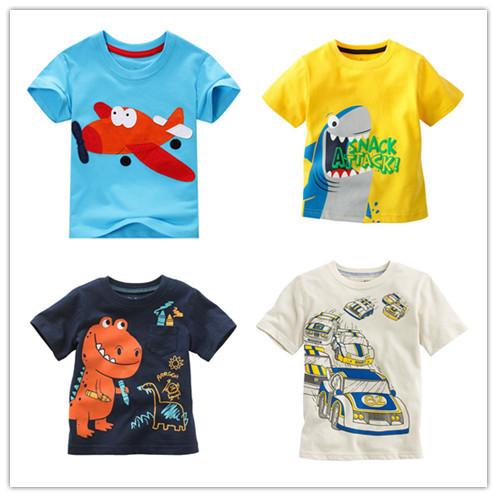 New Arrival Children T shirt boys Tees Short sleeve shirts Summer Kids Tops Cartoon Baby Boy