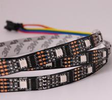1M 2M 5V Black PCB 32LEDS 32IC WS2801 5050 RGB LED Strip Individual Programmable ws2801 ic Strip Light non-waterproof(China (Mainland))
