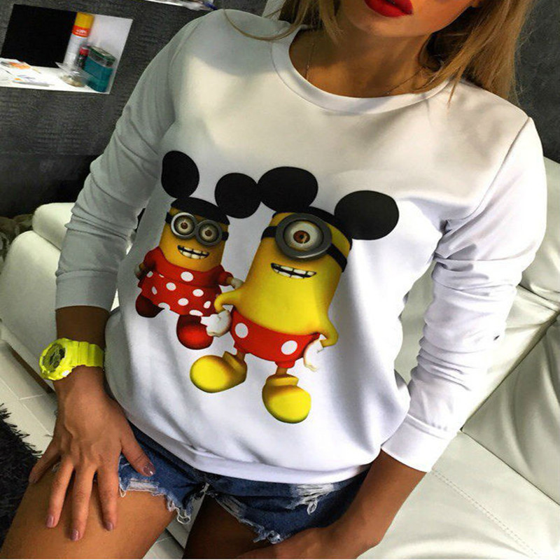 2017 New Minions Printed T Shirts Spring Pregnant Women Lovely Cartoon Long Sleeve Casual Cute Lady Tees Cute Female Tee Tops